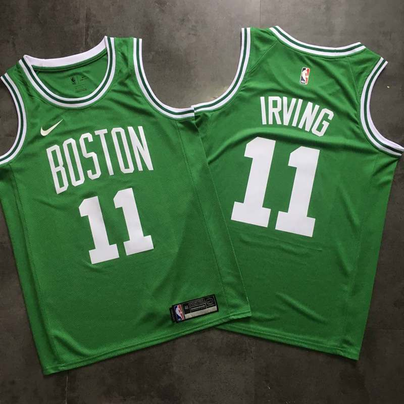 Celtics 11 Kyrie Irving Green Printed Nike Swingman Jersey