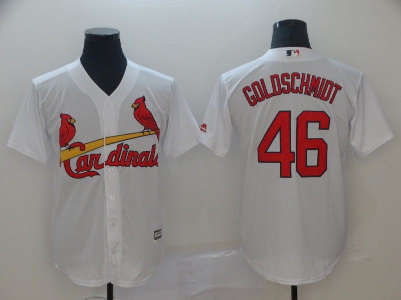 Cardinals 46 Paul Goldschmidt White Cool Base Jersey
