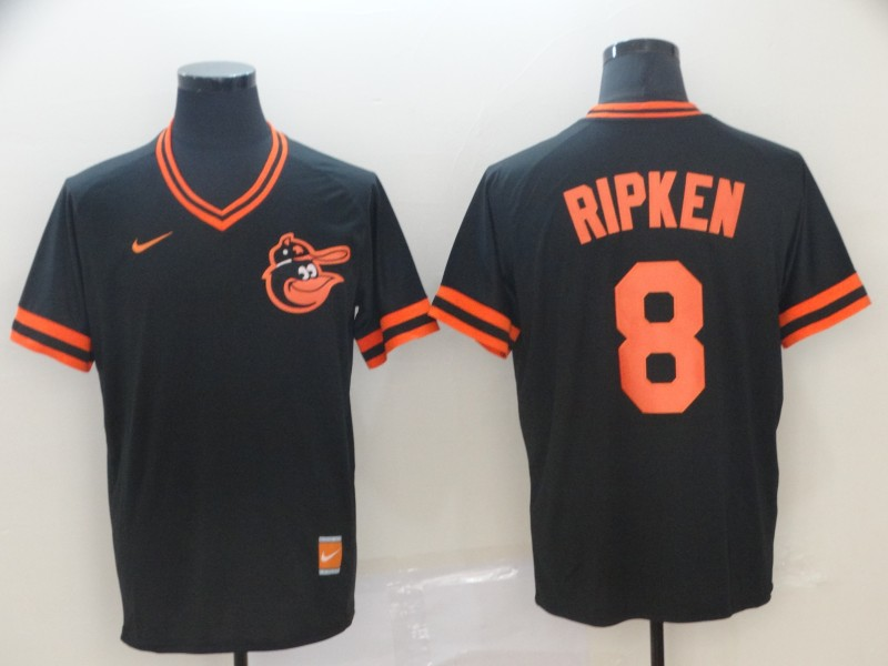 Orioles 8 Cal Ripken Jr Black Throwback Jersey
