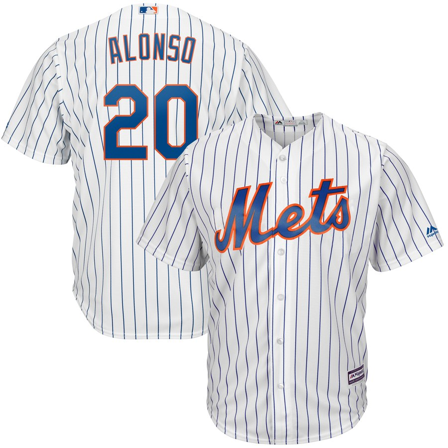 Mets 20 Pete Alonso White Youth Cool Base Jersey