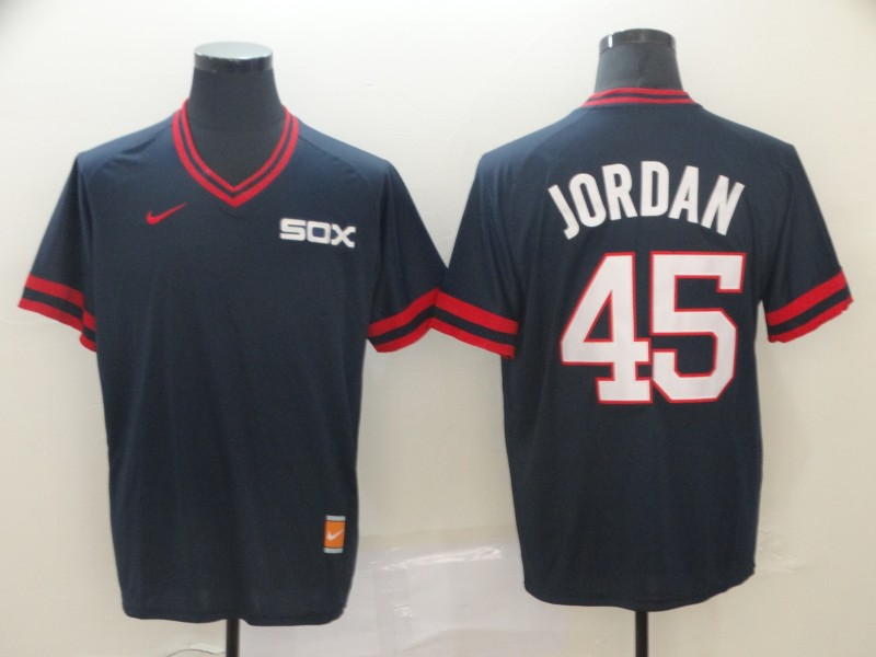White Sox 45 Michael Jordan Navy Throwback Jersey