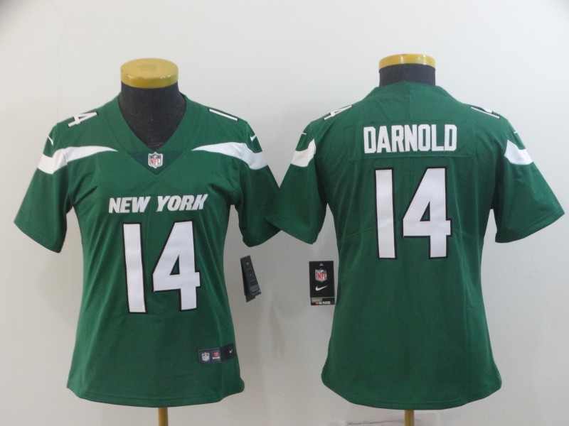 Nike Jets 14 Sam Darnold Green Women New 2019 Vapor Untouchable Limited Jersey