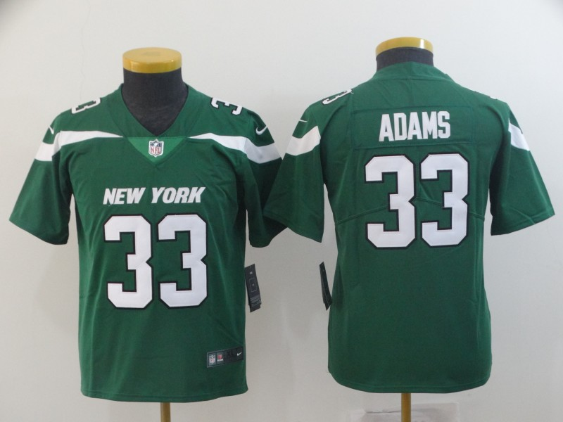 Nike Jets 33 Jamal Adams Green Youth New 2019 Vapor Untouchable Limited Jersey