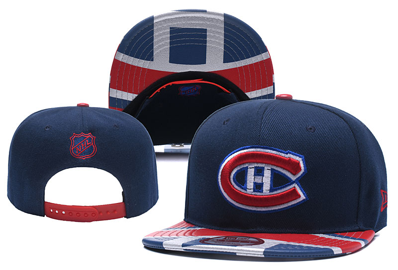 Canadiens Team Logo Navy Adjustable Hat YD
