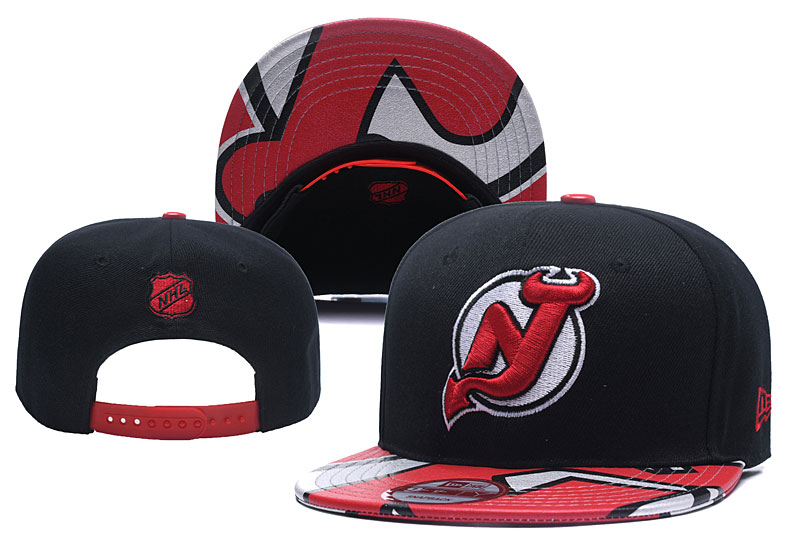 Devils Team Logo Black Red Adjustable Hat YD