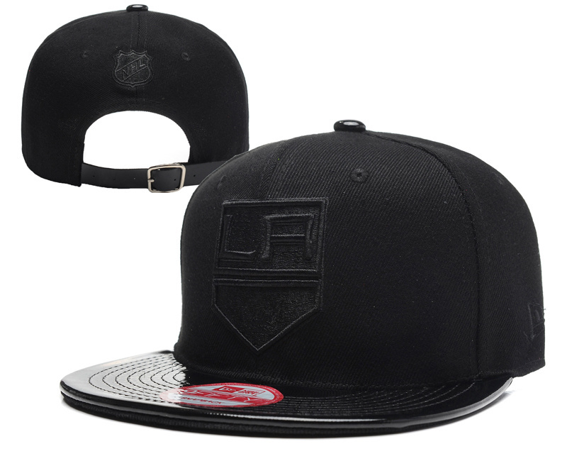 Los Angeles Kings Team Logo Black Adjustable Hat YD