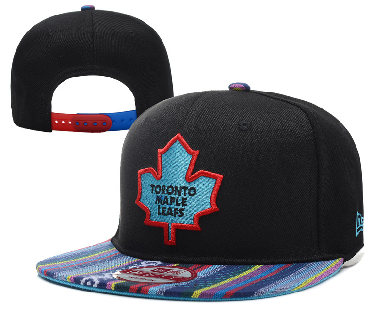 Maple Leafs Team Logo Black Adjustable Hat YD