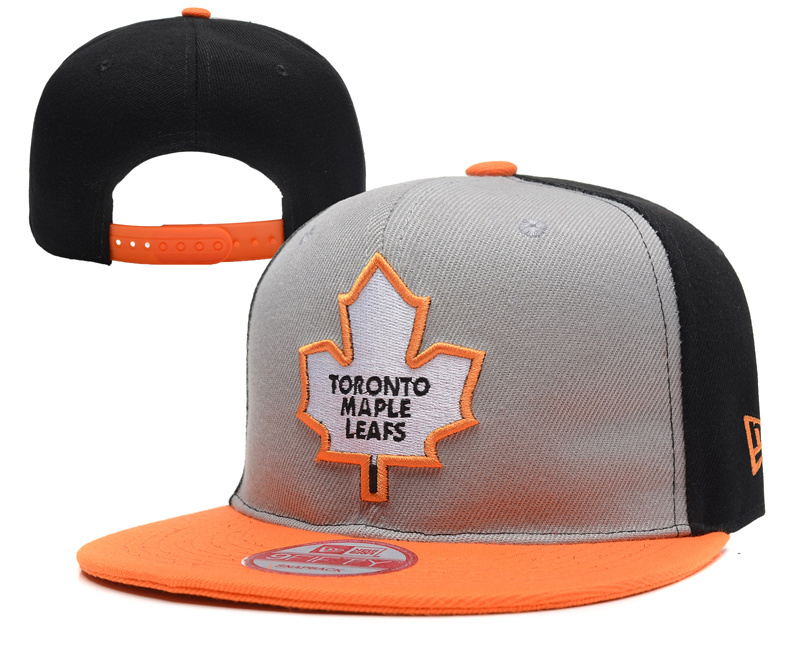Maple Leafs Team Logo Gray Orange Adjustable Hat YD