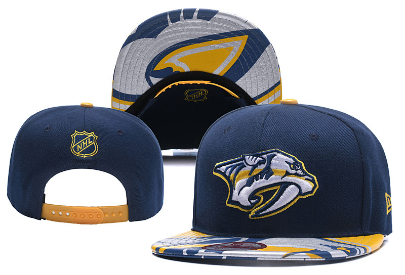 Predators Team Logo Navy Adjustable Hat YD