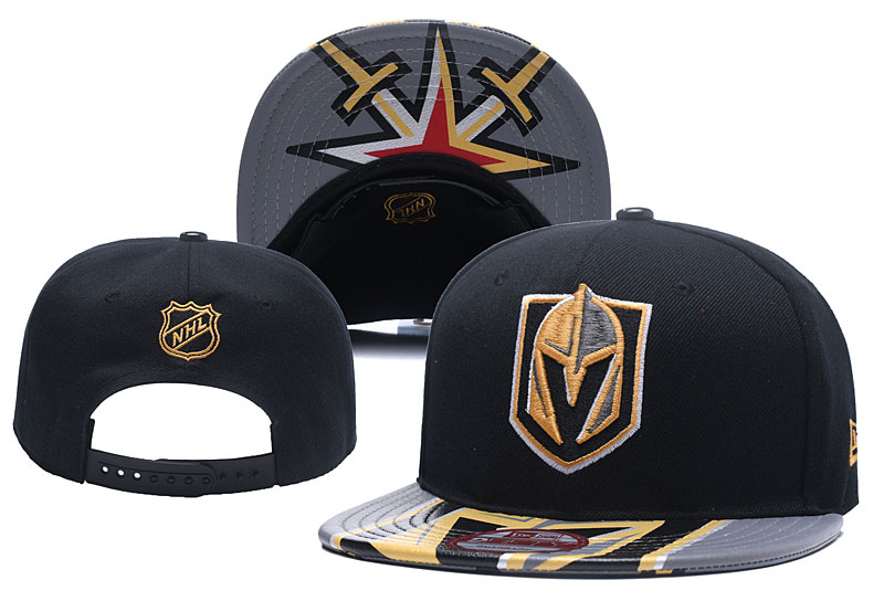Vegas Golden Knights Team Logo Black Gray Adjustable Hat YD