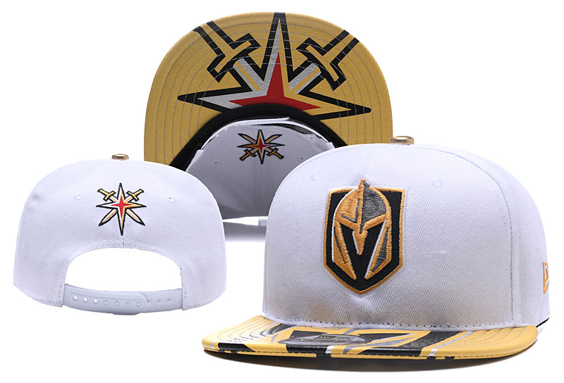 Vegas Golden Knights Team Logo White Adjustable Hat YD
