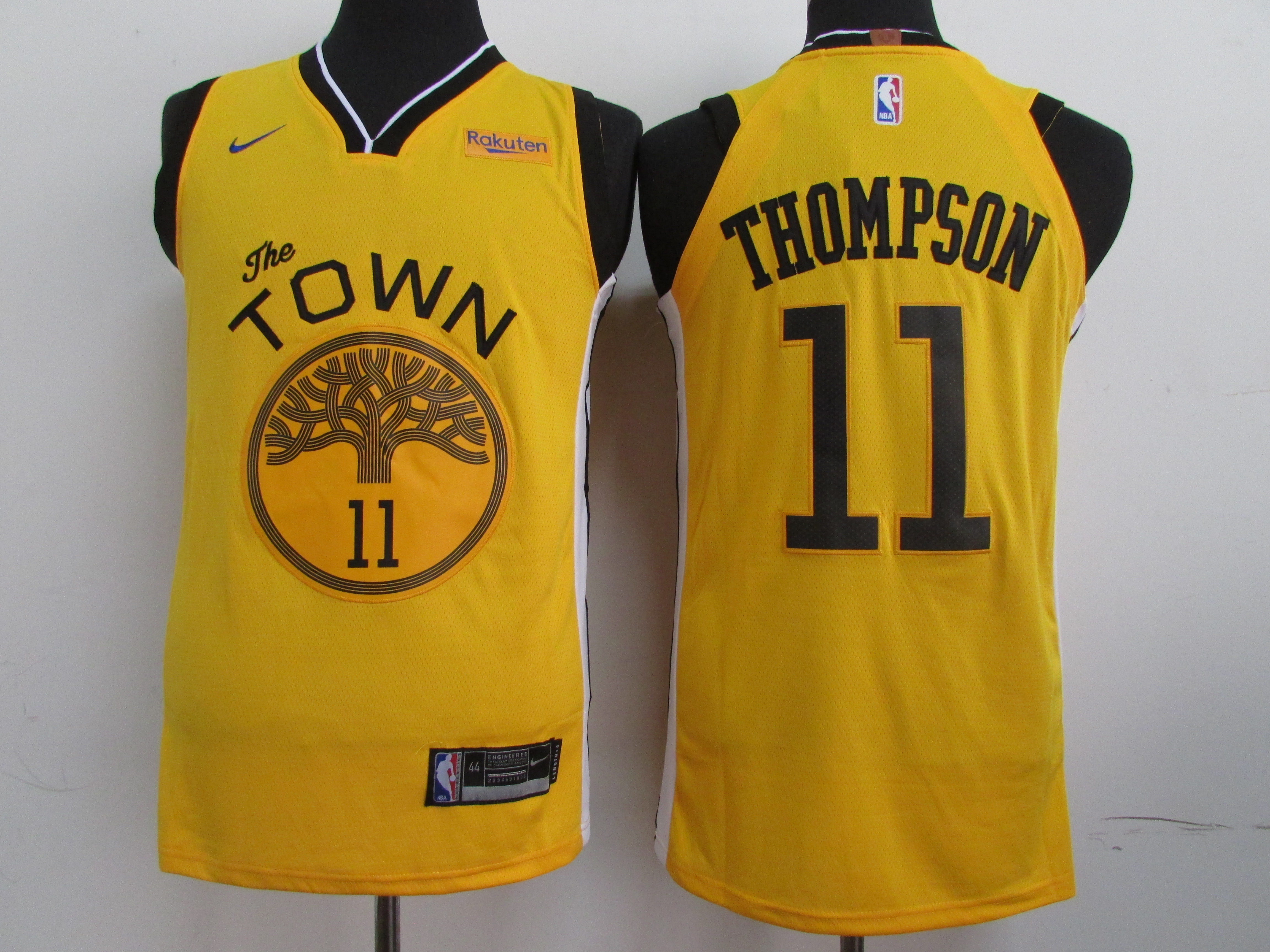 Warriors 11 Klay Thompson Yellow 2019 Earned Edition Nike Authentic Jersey