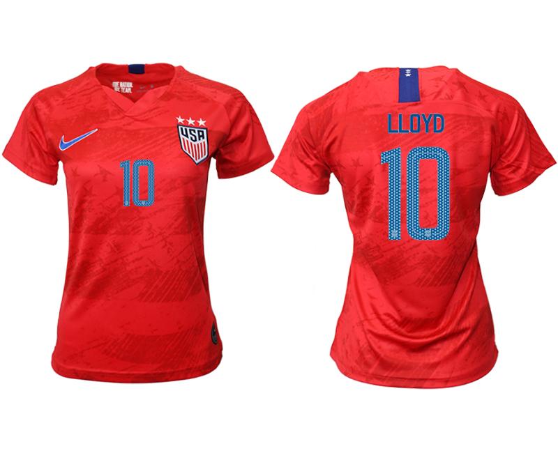 2019-20 America 10 LLOYD Away Women Soccer Jersey