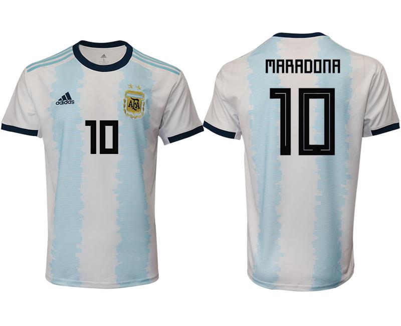 2019-20 Argentina 10 MARADONA Home Thailand Soccer Jersey