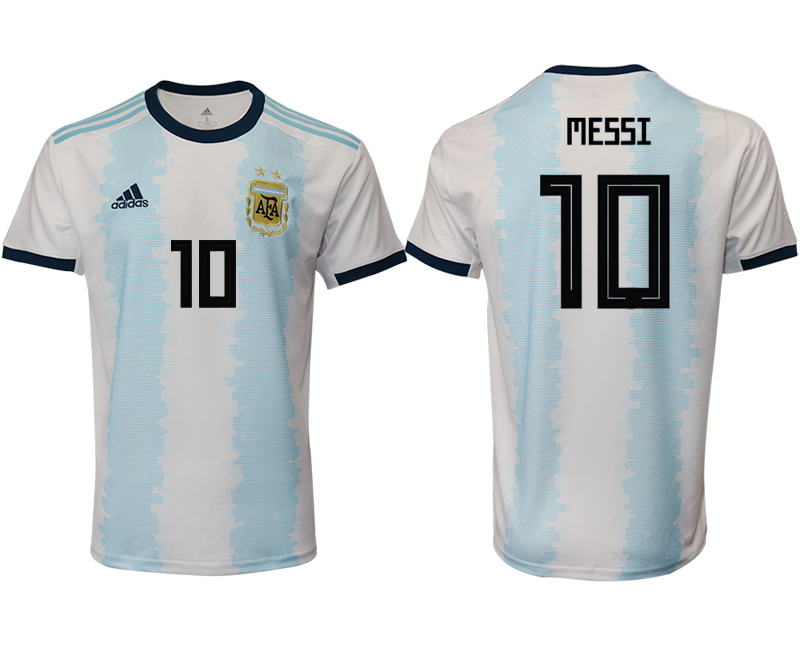 2019-20 Argentina 10 MESSI Home Thailand Soccer Jersey