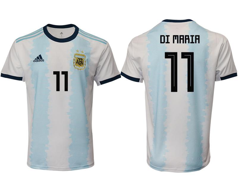 2019-20 Argentina 11 DI MARIA Home Thailand Soccer Jersey