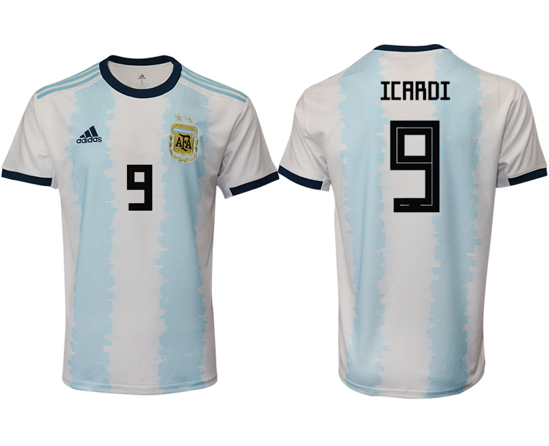 2019-20 Argentina 9 ICARDI Home Thailand Soccer Jersey