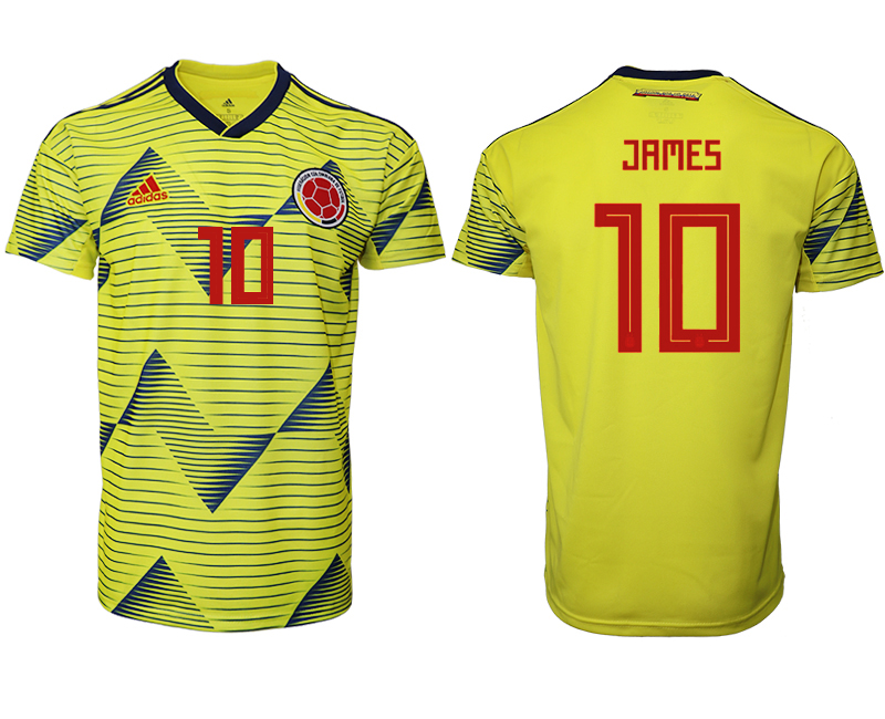 2019-20 Colombia 10 JAMES Home Thailand Soccer Jersey