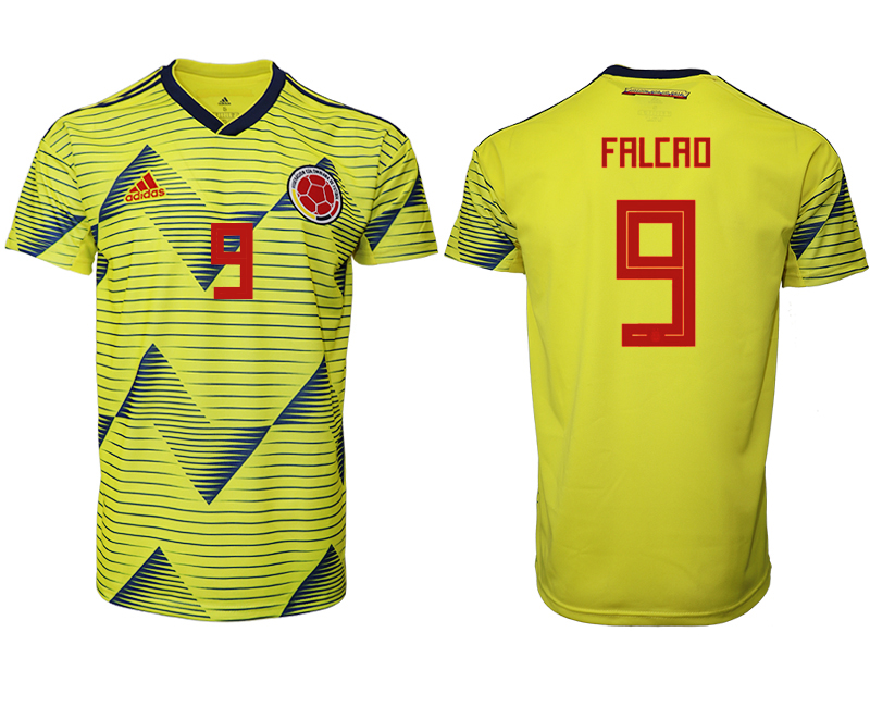 2019-20 Colombia 9 FALCAO Home Thailand Soccer Jersey