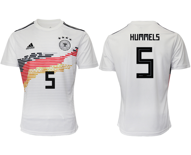 2019-20 Germany 5 HUMMELS Home Thailand Soccer Jersey