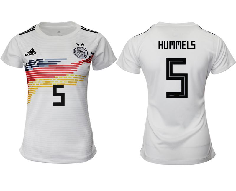 2019-20 Germany 5 HUNMMEKLS Home Women Soccer Jersey