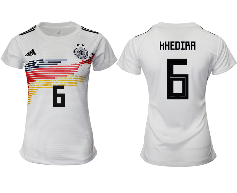 2019-20 Germany 6 HHEDIRA Home Women Soccer Jersey