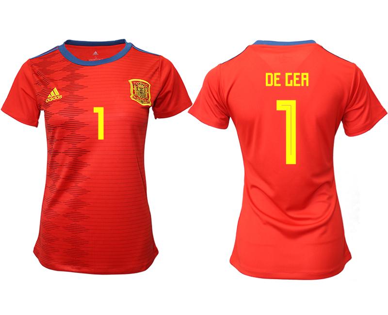 2019-20 Spain 1 DE GEA Home Women Soccer Jersey