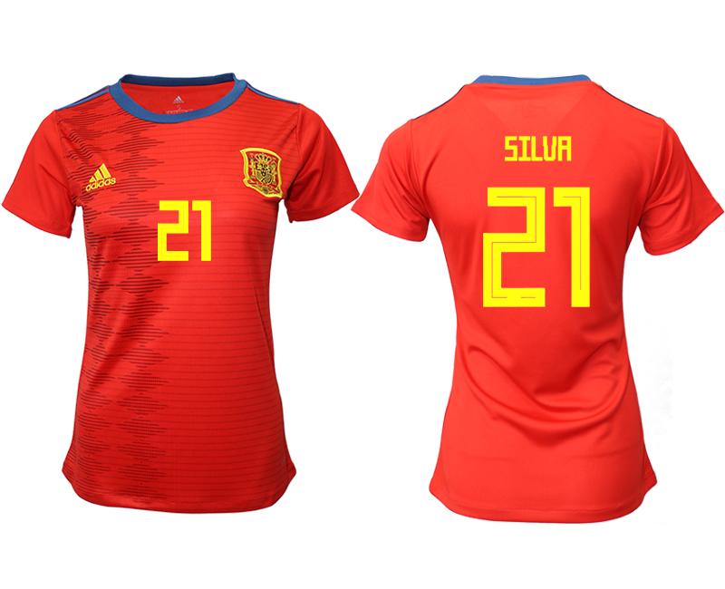 2019-20 Spain 21 SILUA Home Women Soccer Jersey