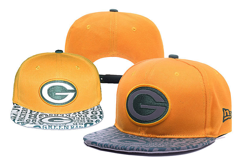 Packers Team Logo Yellow Green Adjustable Hat YD