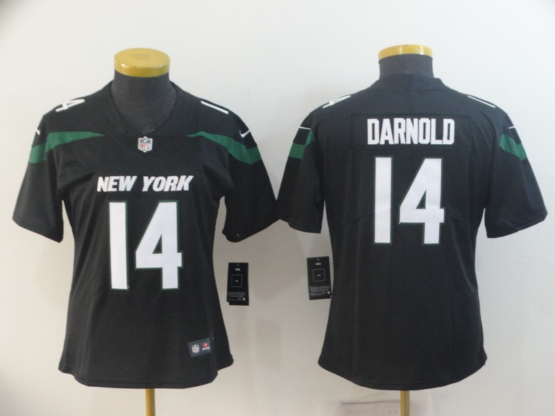 Nike Jets 14 Sam Darnold Black Women New 2019 Vapor Untouchable Limited Jersey