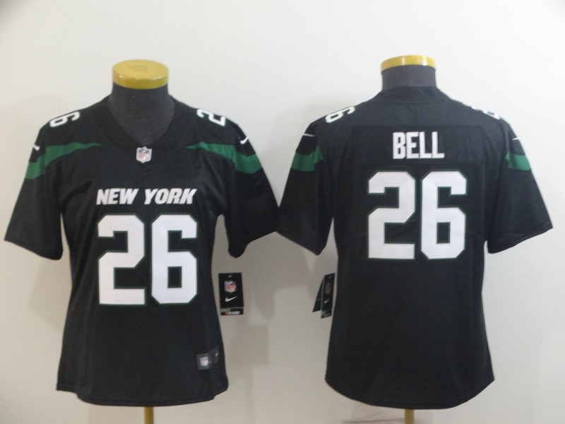 Nike Jets 26 Le'Veon Bell Black Women New 2019 Vapor Untouchable Limited Jersey