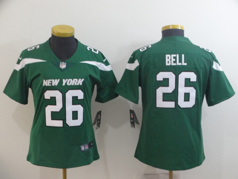 Nike Jets 26 Le'Veon Bell Green Women New 2019 Vapor Untouchable Limited Jersey