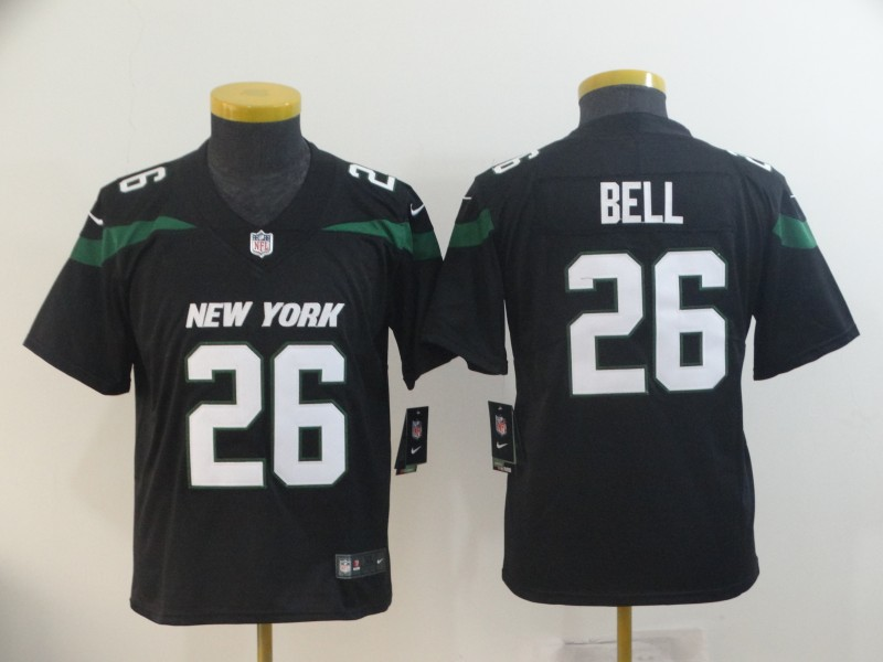 Nike Jets 26 Le'Veon Bell Black Youth New 2019 Vapor Untouchable Limited Jersey