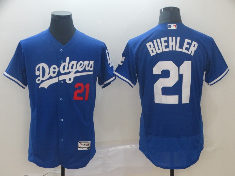 Dodgers 21 Walker Buehler Royal Flexbase Jersey
