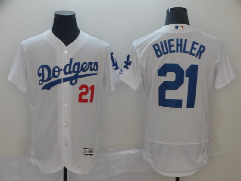 Dodgers 21 Walker Buehler White Flexbase Jersey