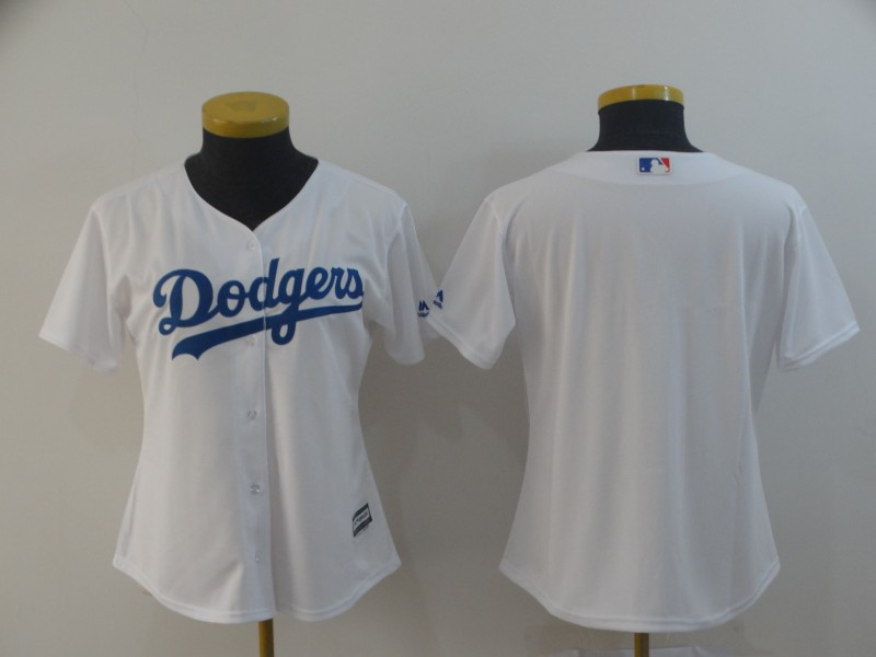 Dodgers Blank White Women Cool Base Jersey
