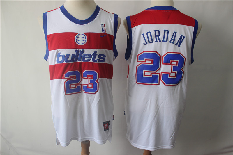 Washington Bullets 23 Michael Jordan Nike College Basketball Jersey