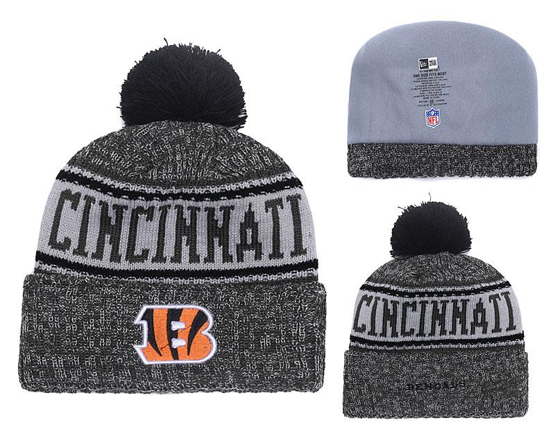 Bengals Team Logo Black Winter Knit Hat YD