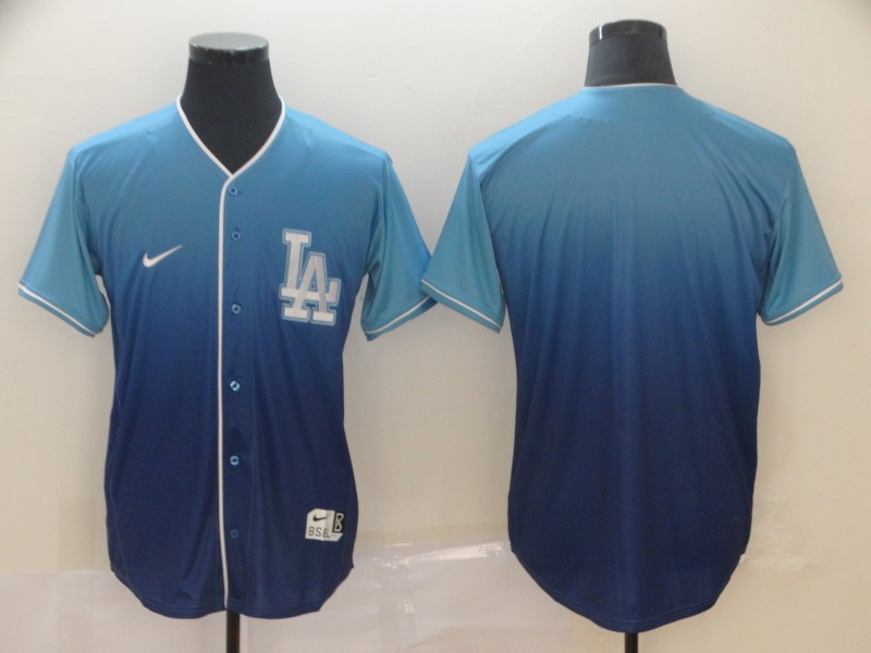 Dodgers Blank Blue Drift Fashion Jersey