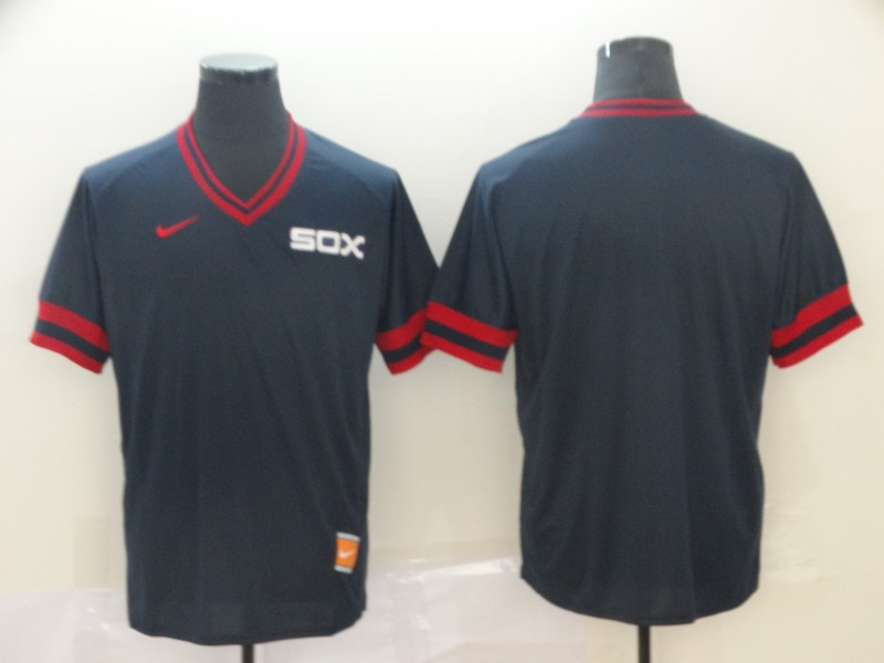 White Sox Blank Navy Throwback Jersey