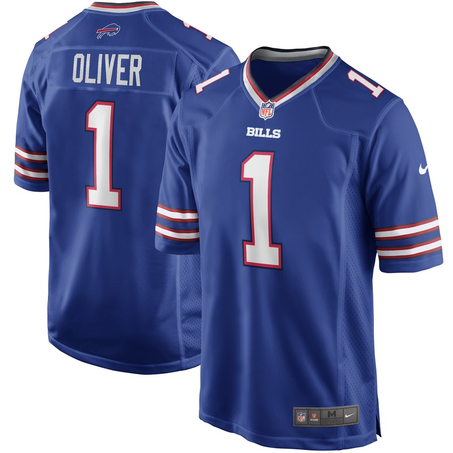 Nike Bills 1 Ed Oliver Royal 2019 NFL Draft First Round Pick Vapor Untouchable Limited Jersey