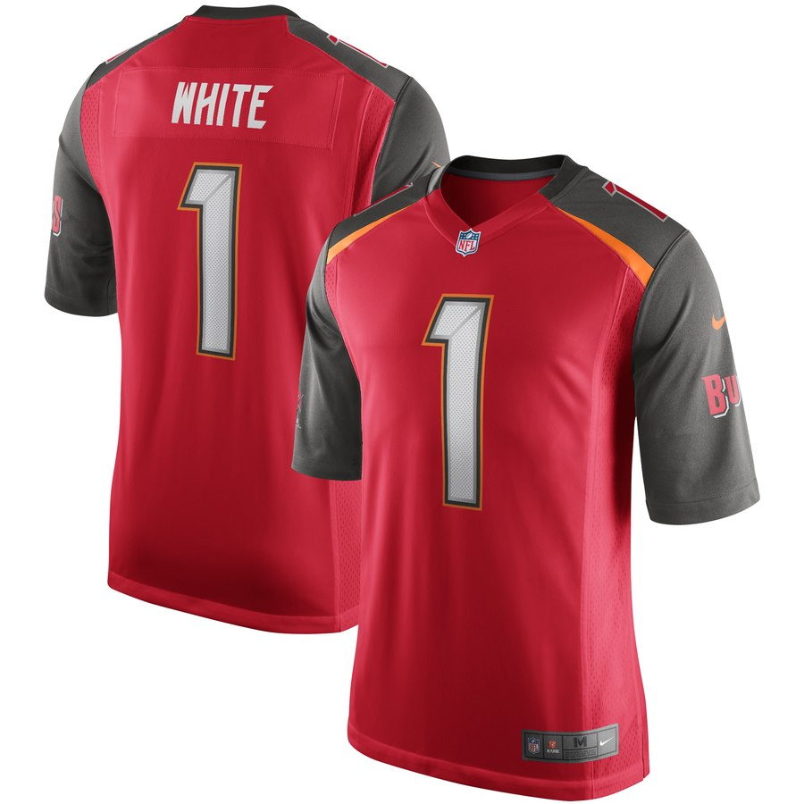 Nike Buccaneers 1 Devin White Red 2019 NFL Draft First Round Pick Vapor Untouchable Limited Jersey