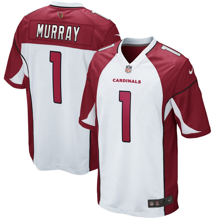 Nike Cardinals 1 Kyler Murray White 2019 NFL Draft First Round Pick Vapor Untouchable Limited Jersey