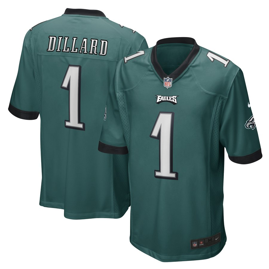Nike Eagles 1 Andre Dillard Green 2019 NFL Draft First Round Pick Vapor Untouchable Limited Jersey