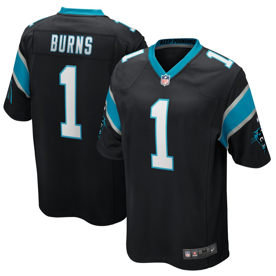 Nike Panthers 1 Brian Burns Black 2019 NFL Draft First Round Pick Vapor Untouchable Limited Jersey