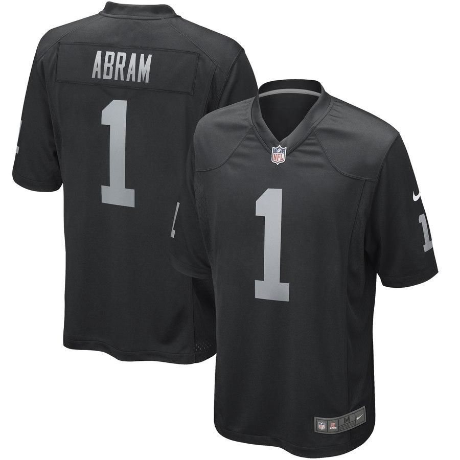 Nike Raiders 1 Johnathan Abram Black 2019 NFL Draft First Round Pick Vapor Untouchable Limited Jersey