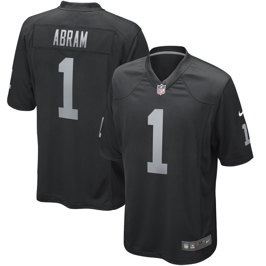 Nike Raiders 1 Johnathan Abram Black Youth 2019 NFL Draft First Round Pick Vapor Untouchable Limited Jersey