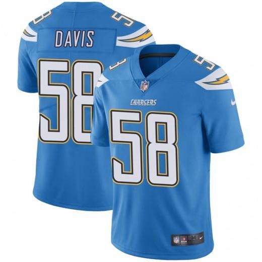 Nike Chargers 58 Thomas Davis Light Blue Vapor Untouchable Limited Jesrey