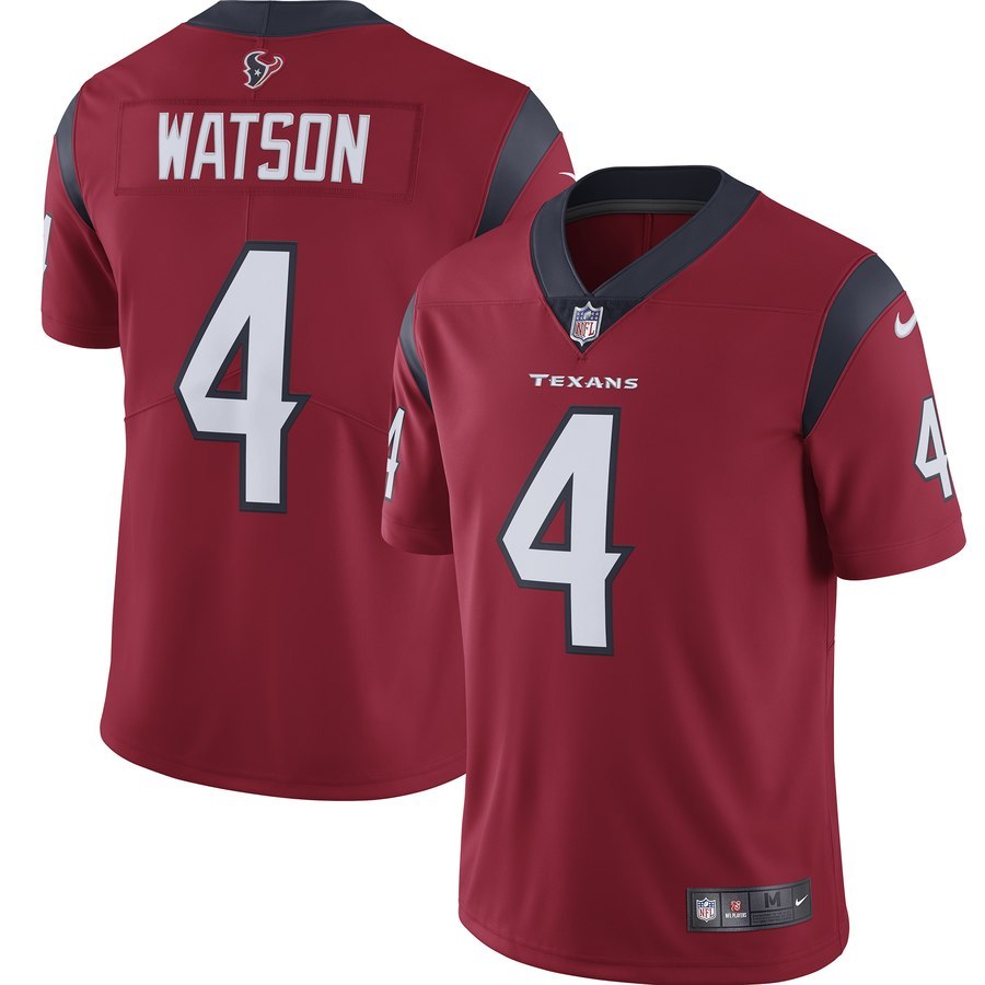 Nike Texans 4 Deshaun Watson Red Youth New 2019 Vapor Untouchable Limited Jersey