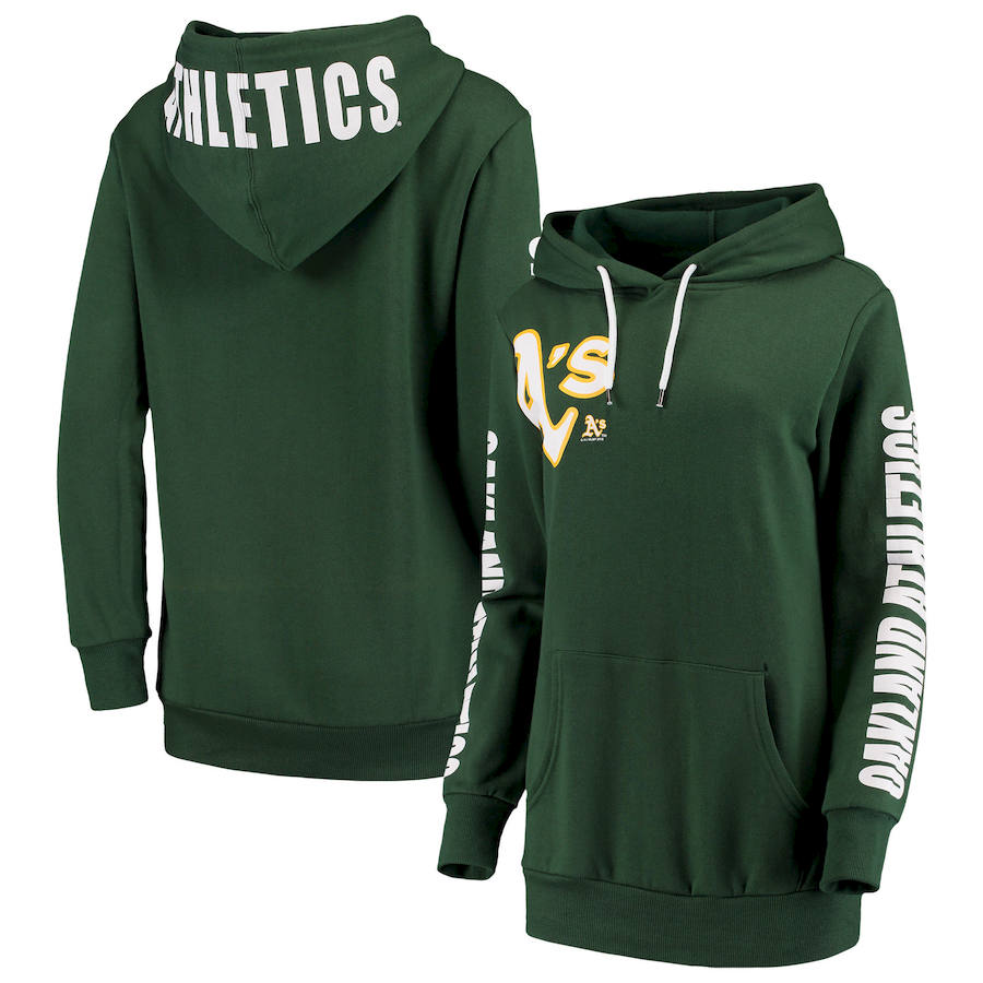 Oakland Athletics G III 4Her by Carl Banks Women's 12th Inning Pullover Hoodie Green